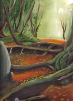 Forest Scene -- Incomplete by Sabu-Kudo