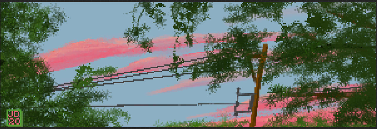 Summer's Dusk, Pixelated