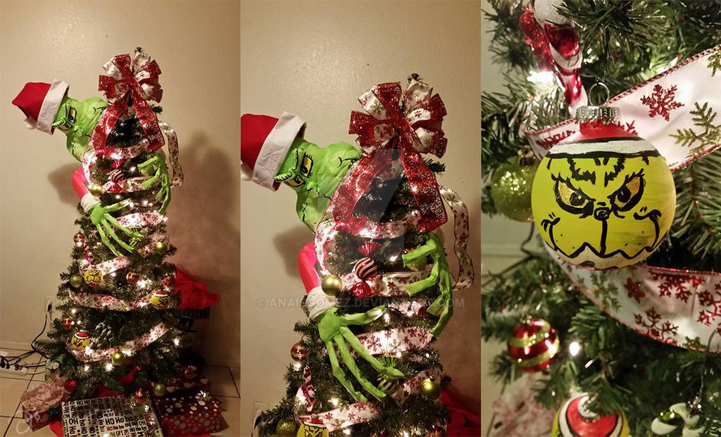 Christmas Grinch Decorations.Grinch Themed Christmas Tree By Anaisgomez On Deviantart