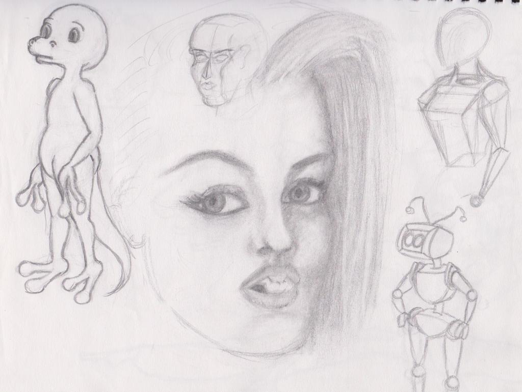 Doodle Sketchbook batch 1_2 by anaisgomez