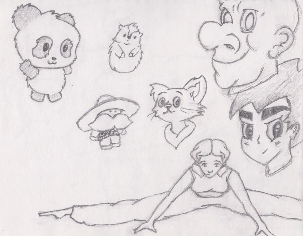 Doodle Sketchbook batch 1_3 by anaisgomez