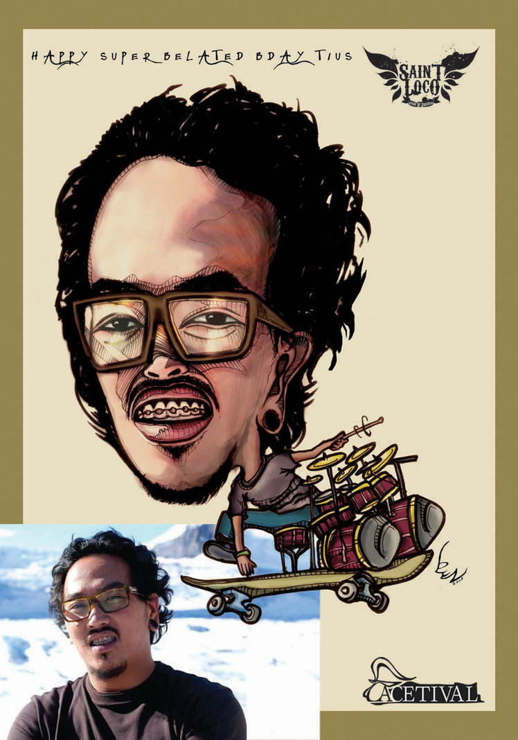 "Tius ""Saint Loco""caricature by blezKilsyx"