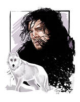 Jon Snow by tsantiago