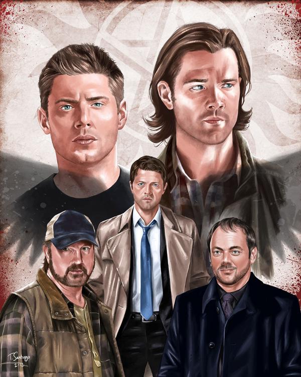 Supernatural Compilation Fan Art by Tony Santiago by tsantiago