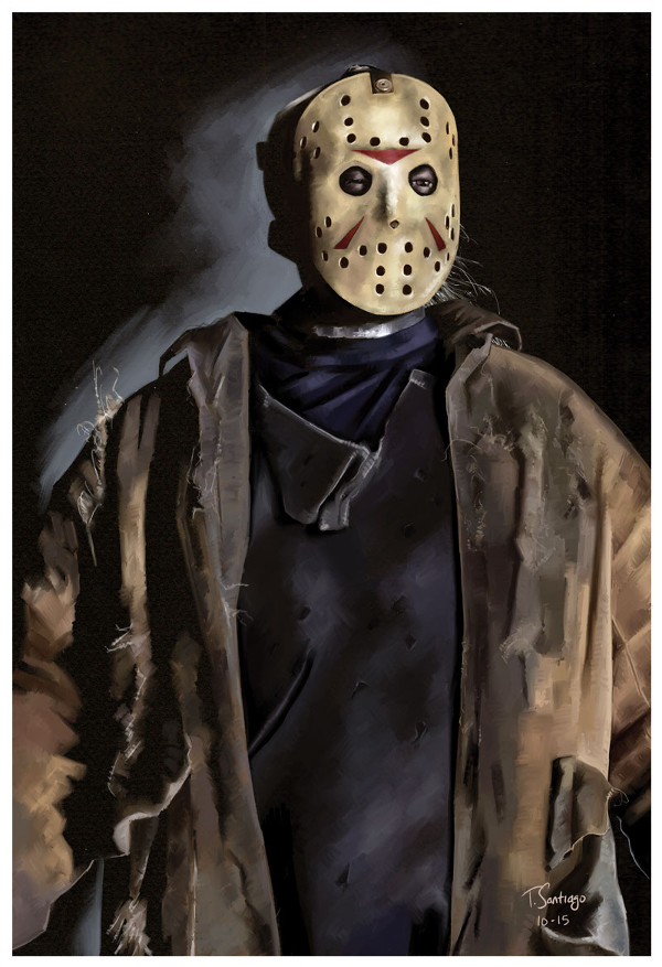 Jason Friday the 13th Fan Art by Tony Santiago by ... Jason Friday The 13th Drawings
