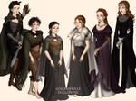 Arya and Sansa Stark (through the years)