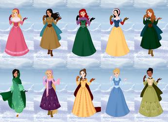 Disney Princesses visit Arendelle