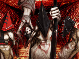 Pyramid Head Family by CainDraka