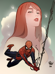 Spider Man And Mary Jane Color by saintwizard