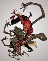 Spidermanvsdoc Ock Commission Color by saintwizard