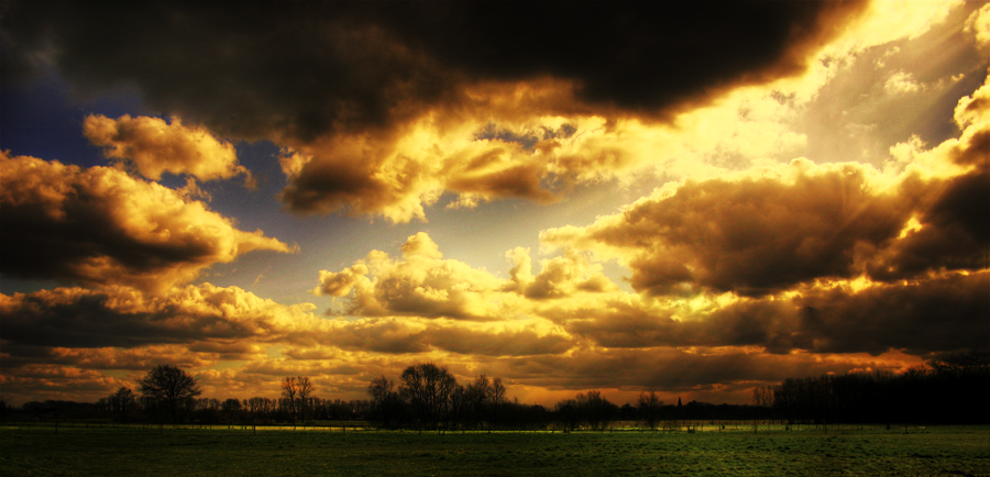Flaming Clouds by stijn