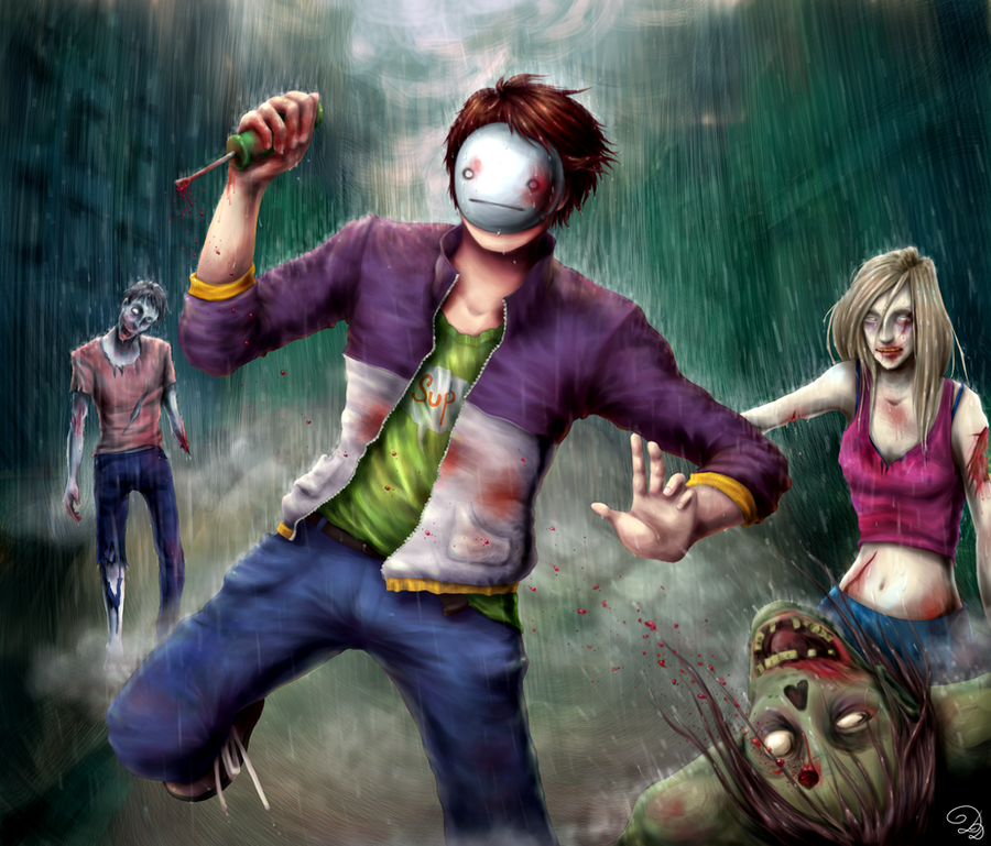 Cry the Zombie Slayer by DonkeyDushan