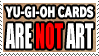 Yu-Gi-Oh cards are not art stamp by raygirl