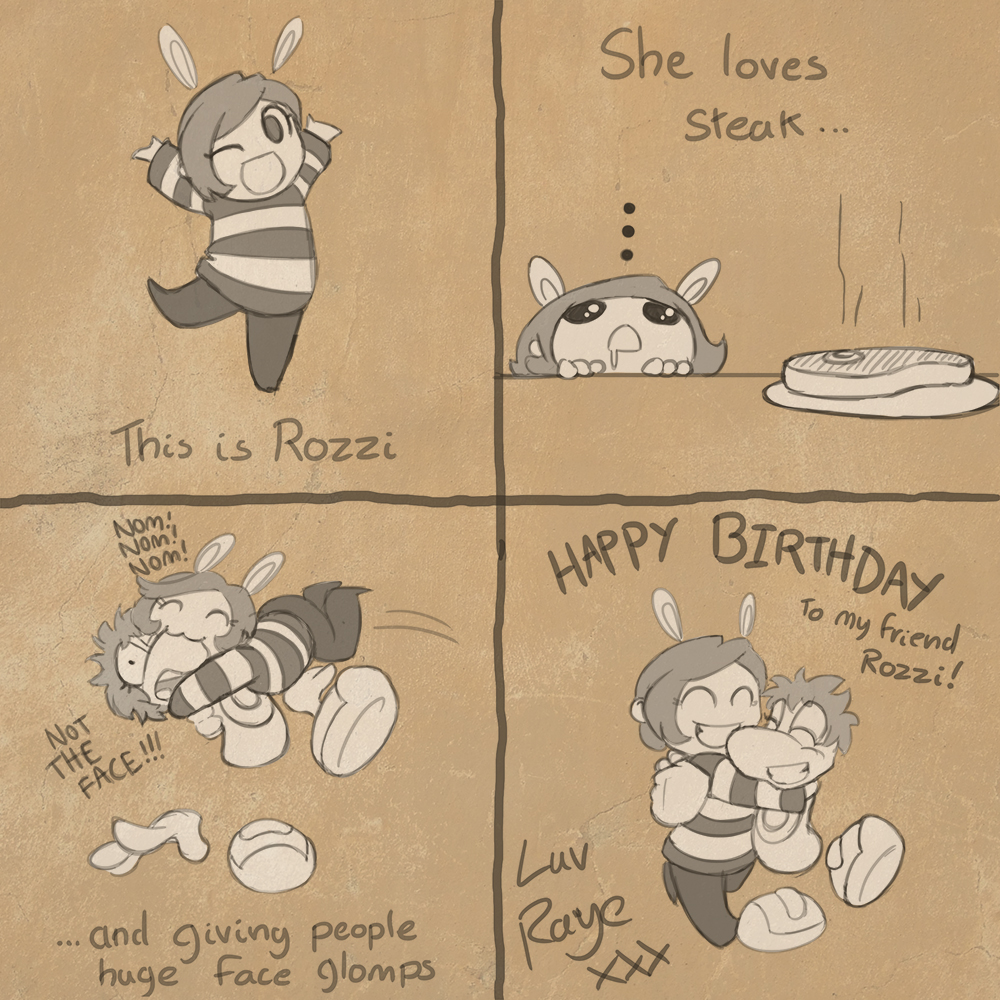 2013 rozzibunny birthday by raygirl