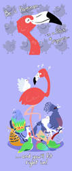 Flamingo Amongst the Pigeons by raygirl