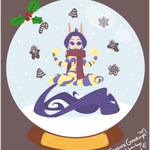 Glade of Dreams Snowglobe Collection: Gingerbread by raygirl