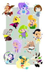 All the cake Chibis by raygirl