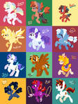 A whole heap of Ponies