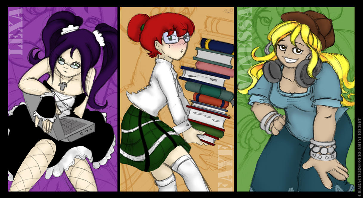 3 good girls by raygirl