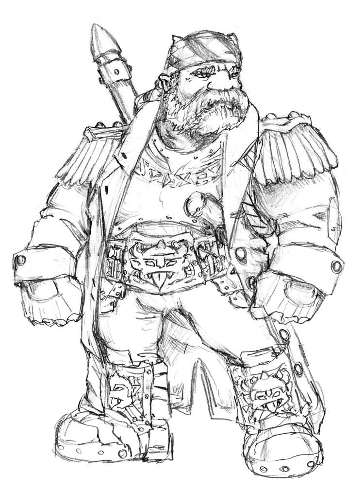 Dwarf Space Pirate by Thewog