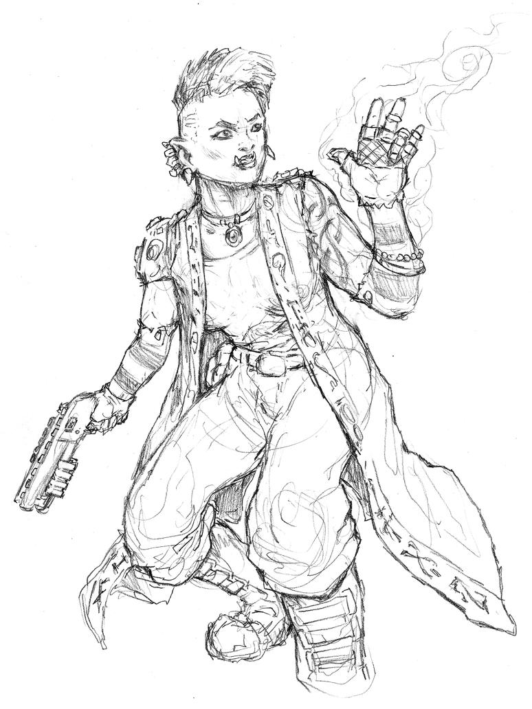 Shadowfun Character Sketch by Thewog