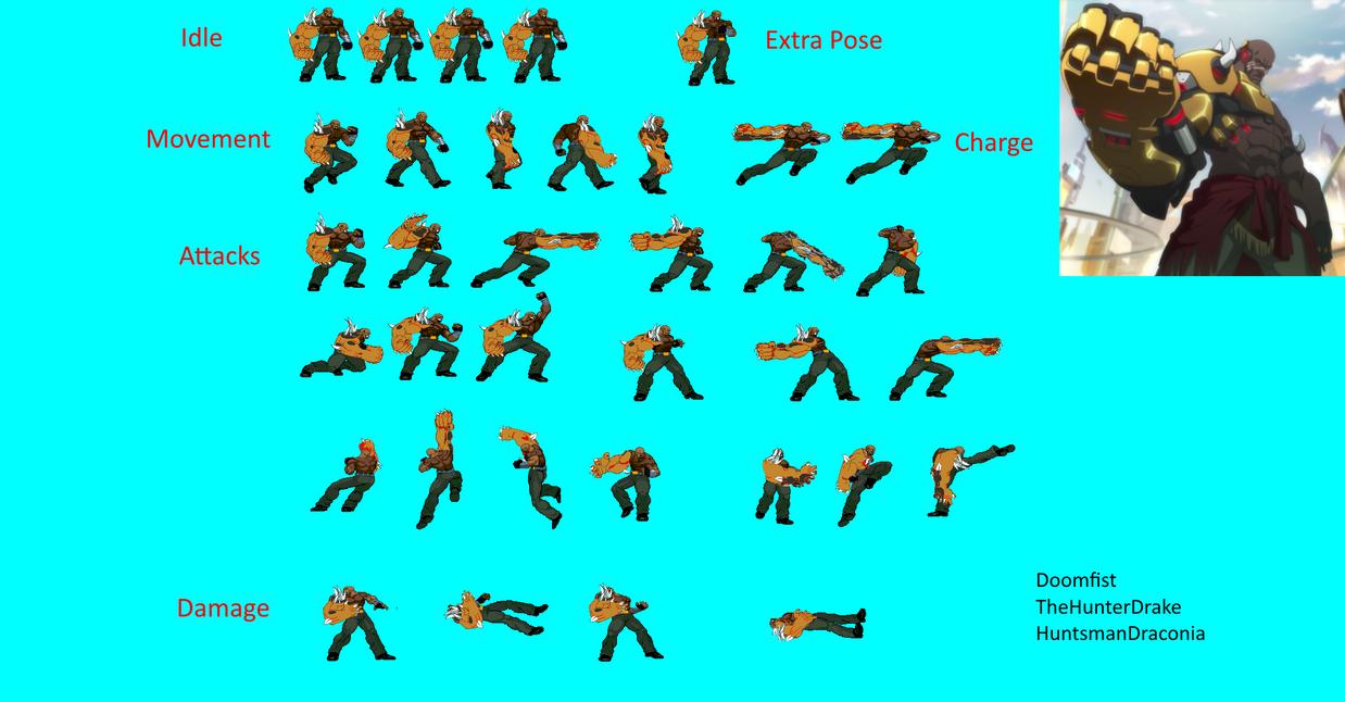 Overwatch Doomfist Sprite Sheet by TheHunterDrake on ...