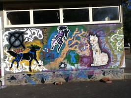 Floofy Graffiti Wall by Ace13352