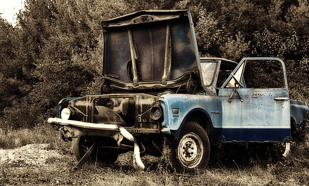 Rusty old blue truck by DillonStein on DeviantArt