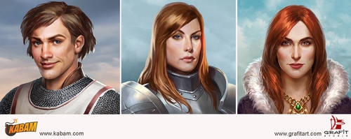 Characters for game Kabam company by Grafit-art
