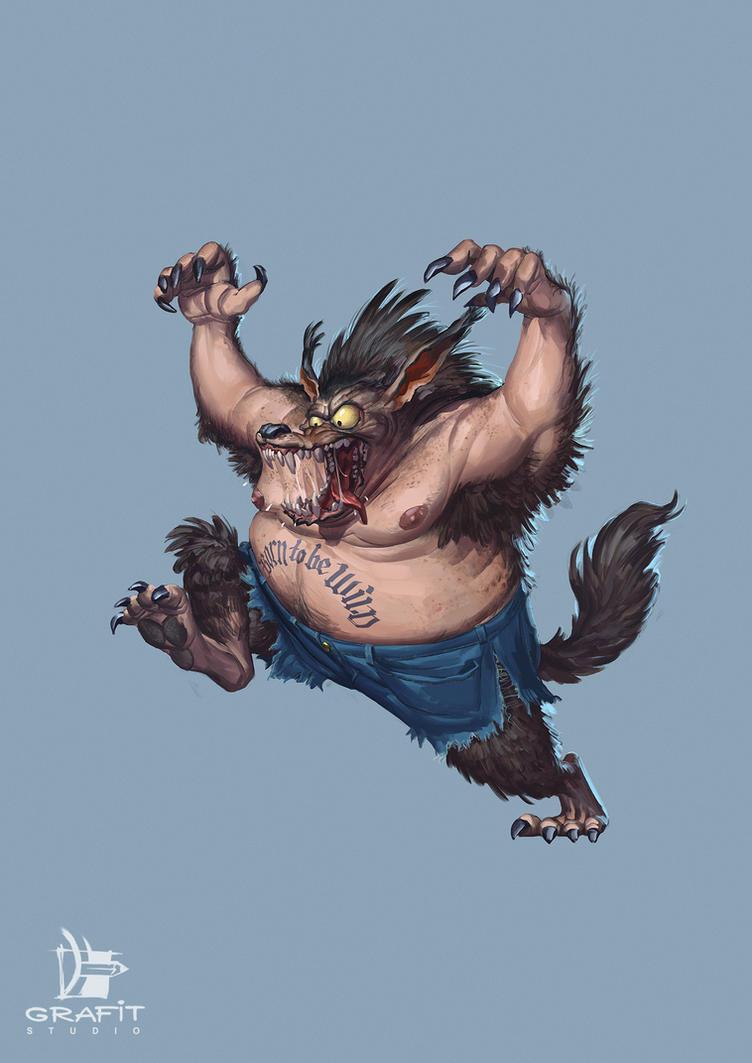 Werewolf by Grafit-art
