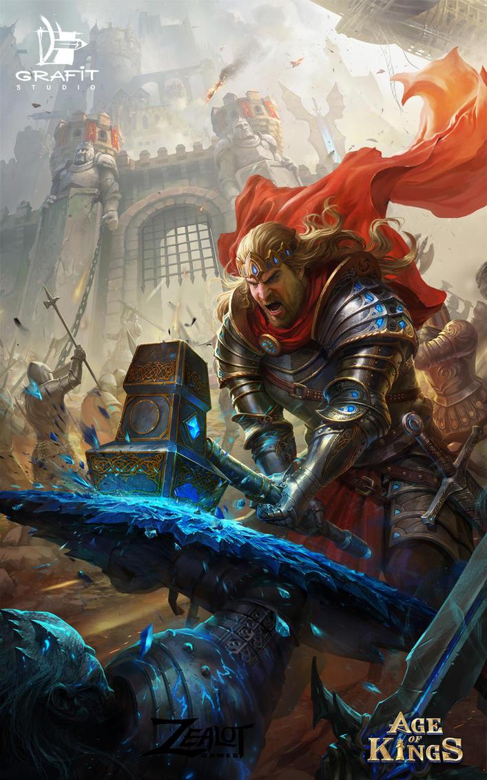 Castle Battle by Grafit-art