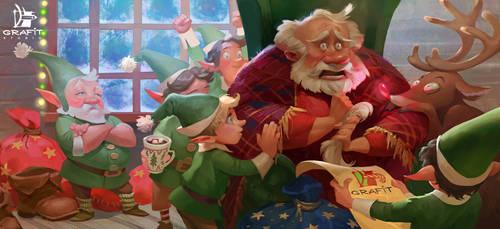 Santa's panic attack
