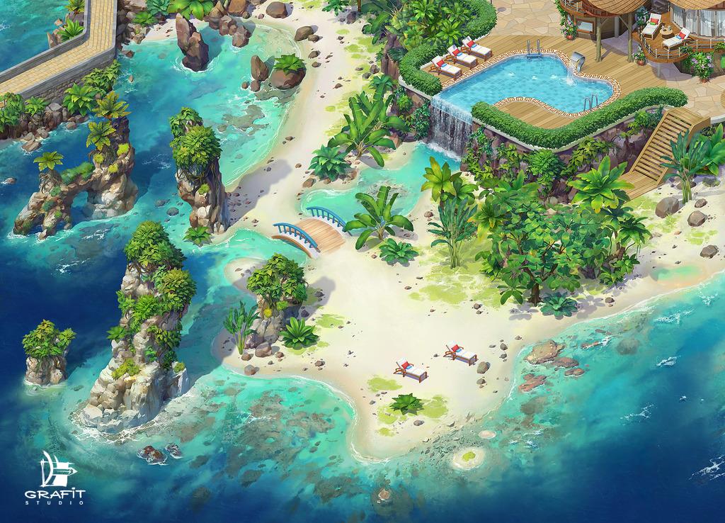 Tropical Island 4 By Grafit-art On DeviantArt