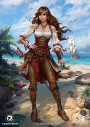 Pirate Girl by Grafit-art