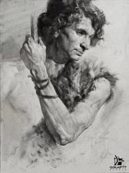Ancient Warrior - Traditional Portrait