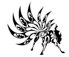 Ninetales Tribal Tattoo by Canyx
