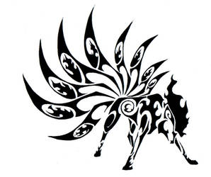 Ninetales Tribal Tattoo by Canyx