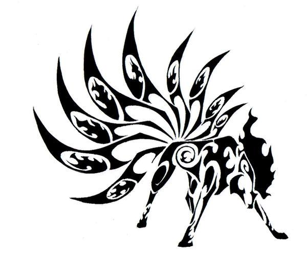 tribal tattoo pokemon. Ninetales Tribal Tattoo by
