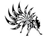 Ninetales Tribal Tattoo