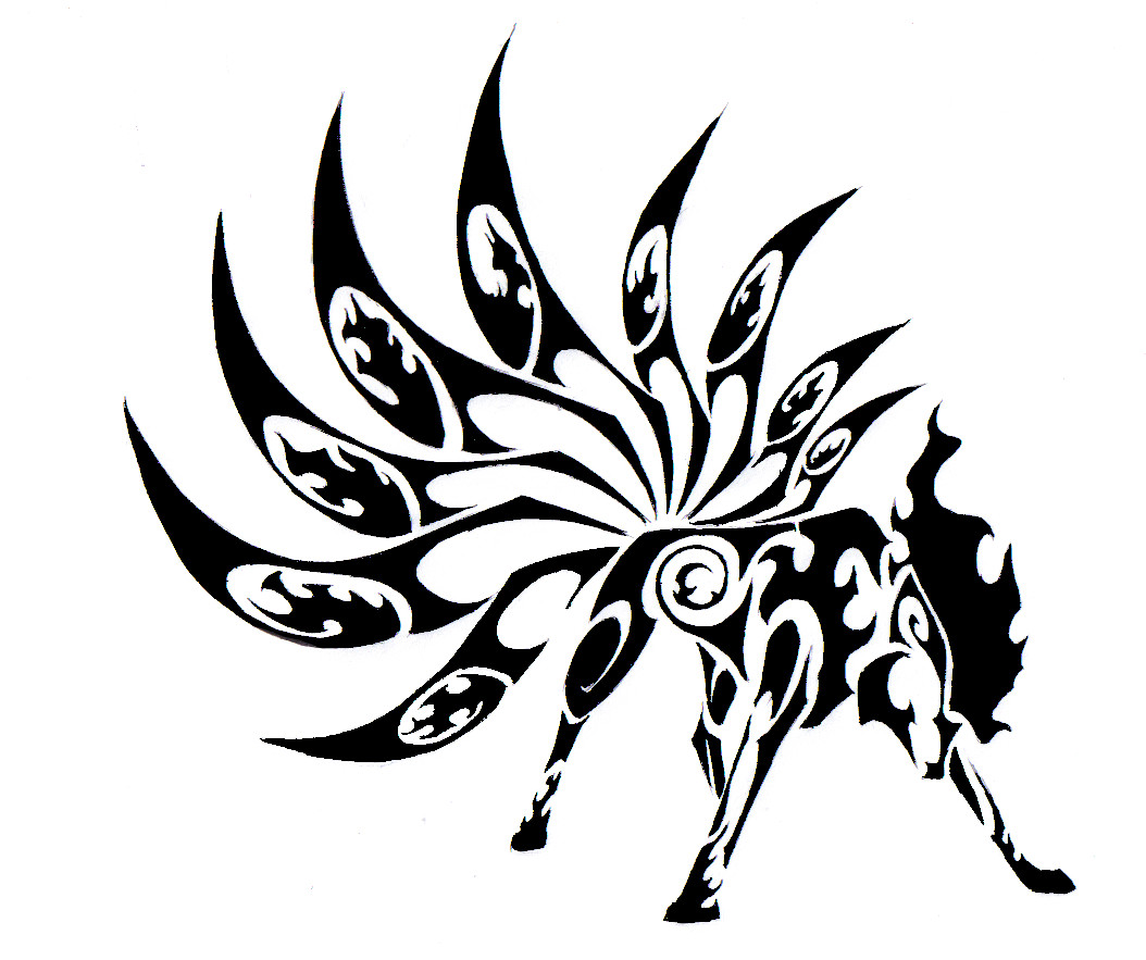 Wolf tribal tattoo gallery