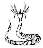 Dragonair Tribal Tattoo by Canyx