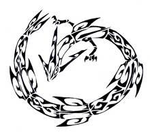 Rayquaza Tribal Tattoo by Canyx