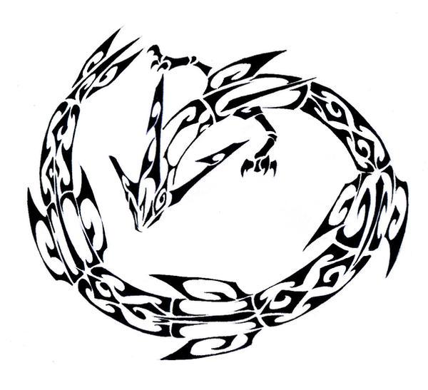Rayquaza Tattoo Design