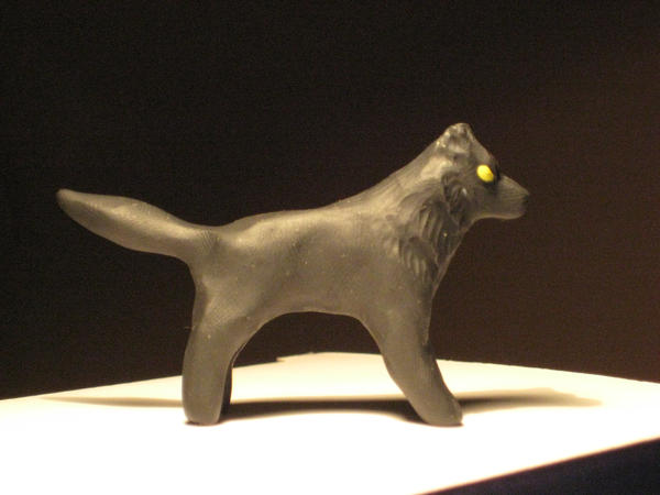 Black Wolf Sculpture by Canyx