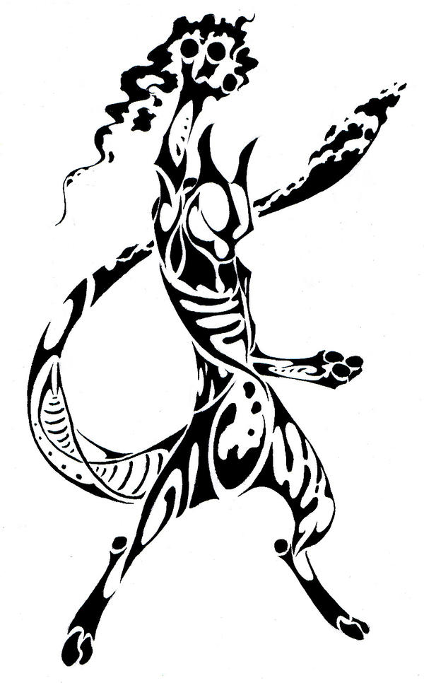 Mewtwo Tribal COMMISSION By Canyx On DeviantArt