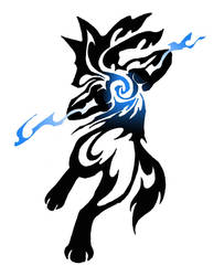 Lucario Tribal COMMISSION by Canyx