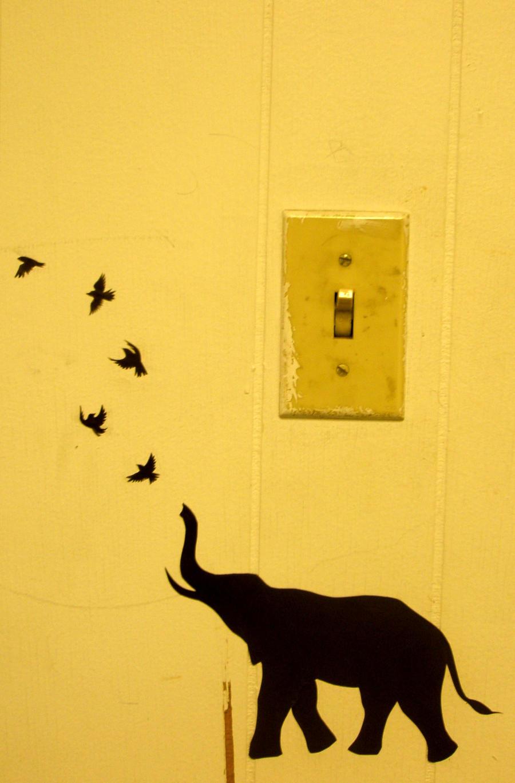 Elephant Wall Stencil