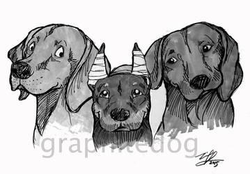 Marker sketch dog #1 by Canyx