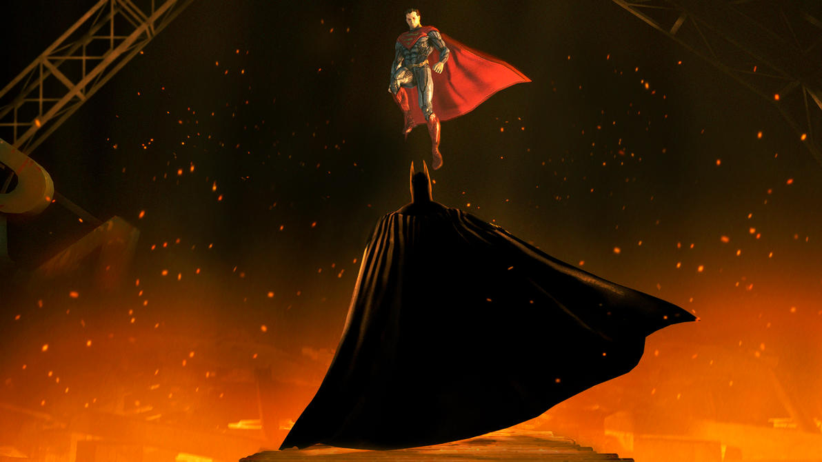 Superman vs Batman by TheFunnyKep