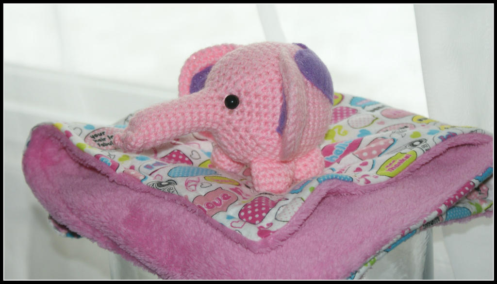 Soft Barbie Blankie and Amigurumi Elephant by SecondHandCaravan